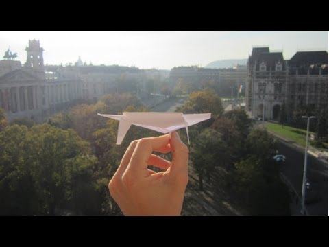 The Ultimate Paper Airplane Glider In Action ( tutorial) - My Best Ever Paper Plane видео