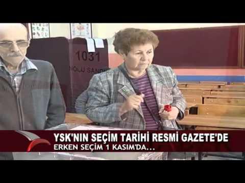 YSK'NIN SEÇİM TARİHİ KARARI, RESMİ GAZETE'DE