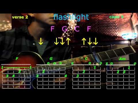 Flashlight Jessie J Guitar Lesson Chord Chart Capo 5th