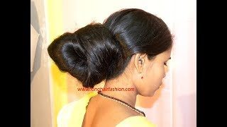 Rapunzel Rekha Oily Big Bun Making with her Below Knee Length Hair