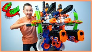 Video GIANT NERF SuperMegaStrike Blaster! (but does this BIGGEST NERF actually work??) MP3, 3GP, MP4, WEBM, AVI, FLV Agustus 2019