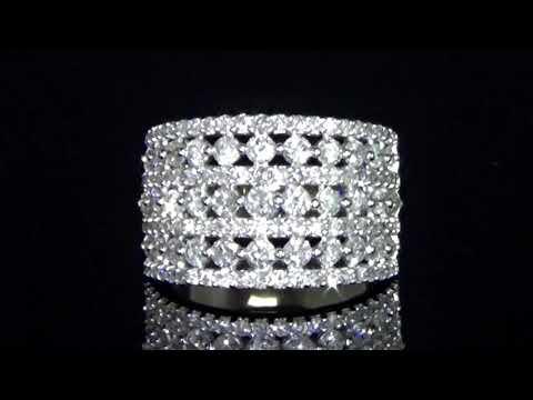 女裝14K白金2克拉(總重)鑽石戒指