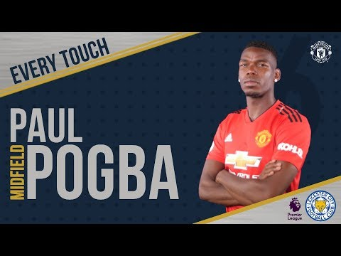 Paul Pogba | EVERY Touch V Leicester! | Manchester United 2-1 Leicester City