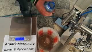 Semi-automatic liquid filling machine youtube video
