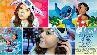 Stitch Halloween Costume&Makeup+DIY Ohana Sign! - YouTube