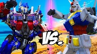 Video RX-78-2 GUNDAM VS OPTIMUS PRIME (Transformers) MP3, 3GP, MP4, WEBM, AVI, FLV September 2018