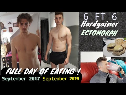 """Bulking Diet for """"hardgainers"""" tall skinny guys.  Full day of eating + workout."""