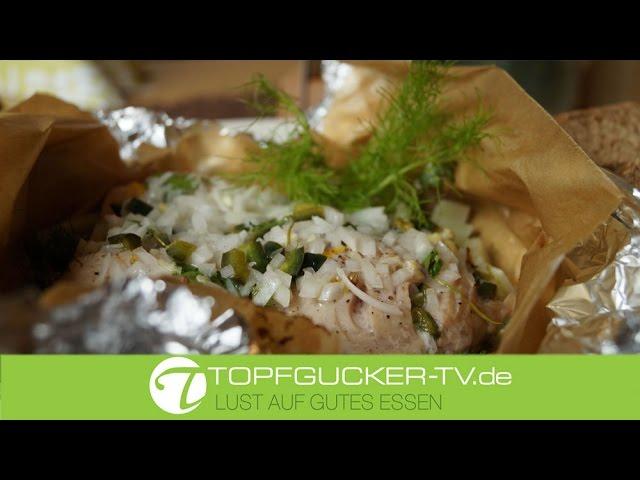 Lausitzer Karpfenpaket für Backofen und im Rhabarberblatt zum Grillen