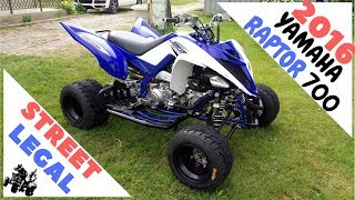 9. Yamaha Raptor 700R 2016  Street Legal