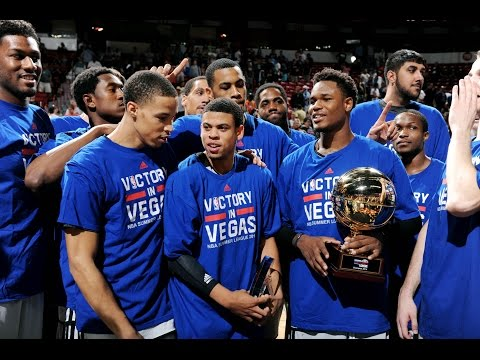 The Sacramento Kings win the 2014 Las Vegas NBA Summer League Championship%21