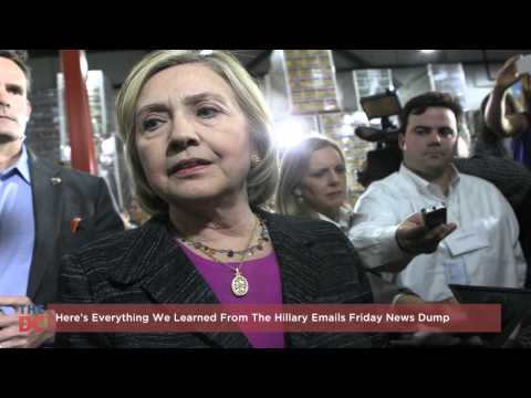 Hillary Emails Friday News Dump