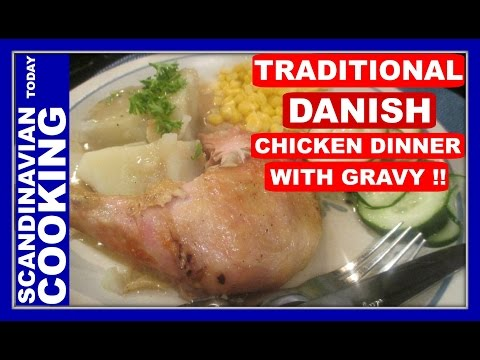 Grydestegt kylling med persille – Chicken stuffed with Parsley & Homemade Gravy