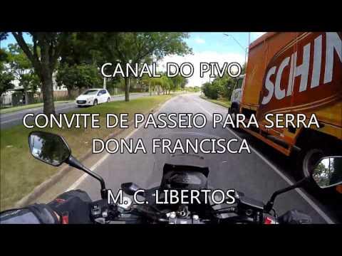 CONVITE DE PASSEIO PARA SERRA DONA FRANCISCA 11/02 - CANAL DO PIVO (HONDA NC 750X)