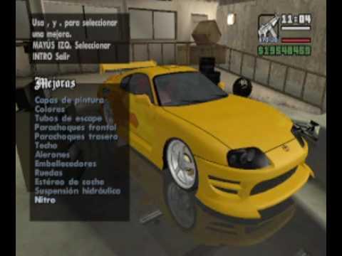 Tuning Options Part1 (GTA SA Starman Mod)