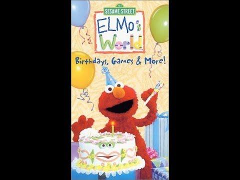 Elmo's World: Birthdays, Games & More (2001 VHS)