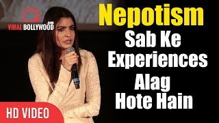 Watch Sab Ke Experiences Alag Hote Hain  Anushka Sharma Reaction On Nepotism In BollywoodCompany : ViralBollywood Entertainment Private LimitedWebsite : www.viralbollywood.comFacebook : https://www.facebook.com/viralbollywoodYoutube : https://www.youtube.com/viralbollywoodTwitter : https://www.twitter.com/viralbollywoodGoogle+ : http://google.com/+viralbollywoodInstagram : http://instagram.com/viralbollywood