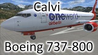 Calvi France  City new picture : FSX | 737 Landing at Calvi, France (LFKC) (Multiple Views)
