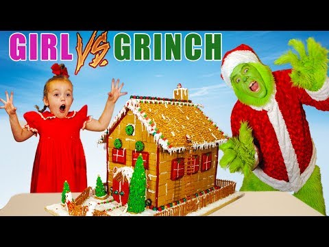 Girl vs Grinch Challenge! Will She Save Christmas? The Grinch in Real Life!