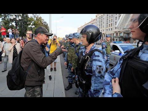 Μόσχα: Μεγάλη διαδήλωση κατά του αποκλεισμού υποψηφίων από τις τοπικές εκλογές…