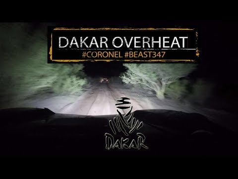 Dakar 2018 stage 11 overheating in the desert with Coronel