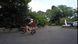 2. beta minitrial wheelie