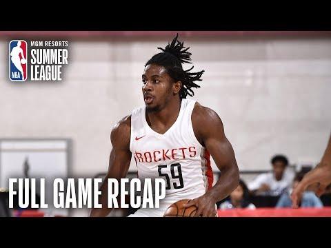 Video: NUGGETS vs ROCKETS | Houston Victorious Behind Clemons, Adel | MGM Resorts NBA Summer League
