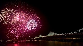 San Francisco New Year's Eve Fireworks 2014 - New Year Celebrations (Full HD)