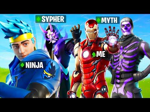 Fortnite LIVE w/ Ninja, SypherPK and Myth!