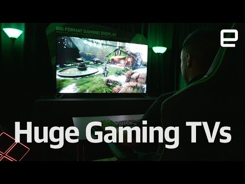 NVIDIA's huge gaming TVs first look at CES 2018 (видео)