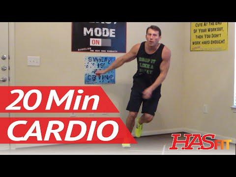 20 Min Cardio Burn – HASfit Cardio Workout to Burn Calories Cardio Exercises Cardiovascular Fitness