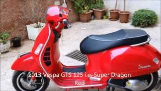 6. 2013 Vespa GTS Super 125 IE Walk Around (Review)