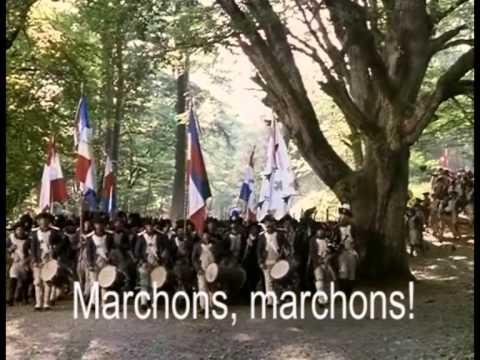 Truppen aus Marsaille marschieren 1793 nach Paris und  ...