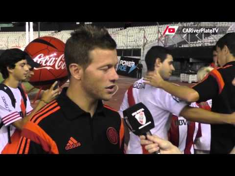 Nicol�s Domingo, tras la goleada ante Quilmes