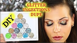 DIY Glitter Injections DUPE | Pressed Glitters Tutorial | JassiraBeauty - YouTube