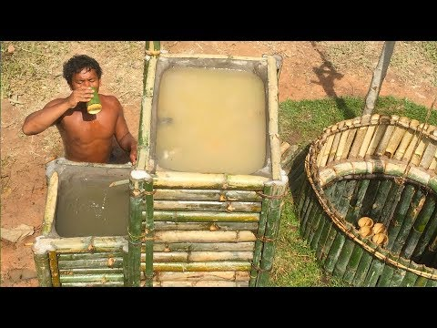 Search groundwater and Build Water filter in the forest by ancient skill ( wells bamboo )