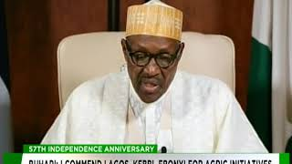 Nigeria@57: President Buhari's Independence Day Speech