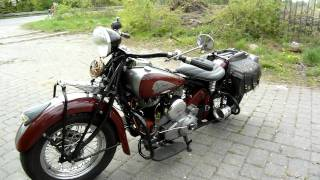 9. Indian Chief 345 exhaust fire