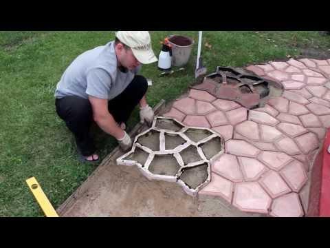 ЧАСТЬ 1: Садовая дорожка (тротуарная плитка) своими руками | Handmade garden walkway (PART 1)