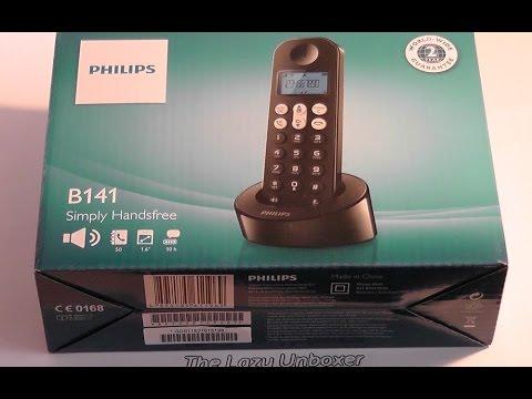 Philips B141 (B1411B/21) dect phone / cordless phone - Unbox & test