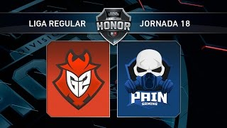 G2 Vodafone vs Pain Gaming - #LoLHonor18 - Mapa 1 - Jornada 18 - T11
