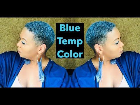 Blue Temp Hair Color & I'm Shrinking!