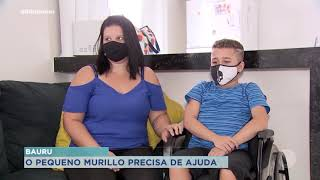 Família precisa de dinheiro para consulta de adolescente com distrofia muscular