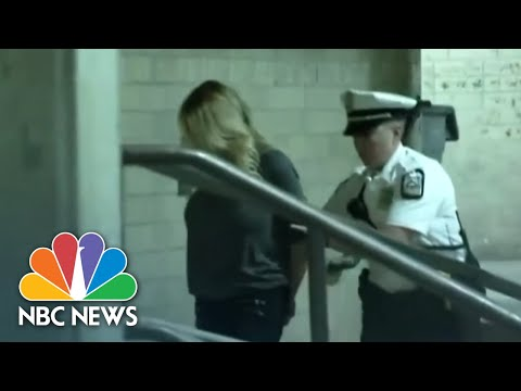 Handcuffed Stormy Daniels Arrives At Jail After Strip Club Arrest   NBC News