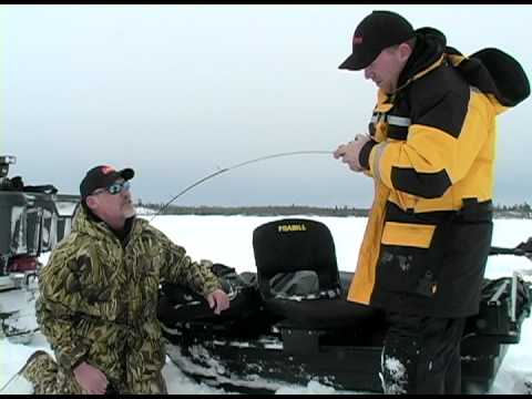 Giant Lake Trout Through The Ice with MarCum Technologies