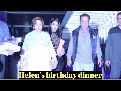Salim Khan Attends Helen's birthday dinner At Hakkasan Mumbai