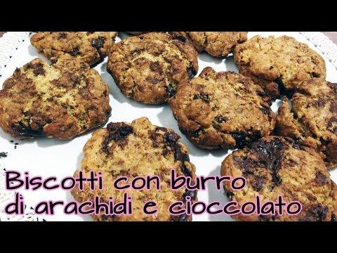 biscotti con burro d'arachidi e cioccolato - la videoricetta