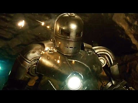 Iron Man - Cave Battle Scene - MARK 1 - Iron Man (2008) Movie CLIP HD