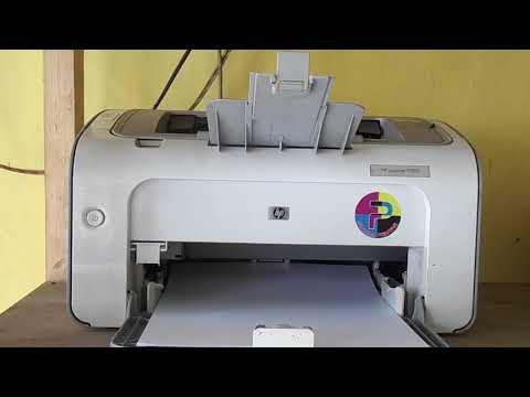 Print Test HP Laser Jet P1102