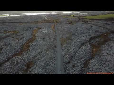 Aerial View Of 1840s Famine Road In Ireland