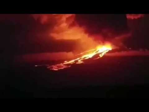 Erupción del volcán Wolf en Galápagos